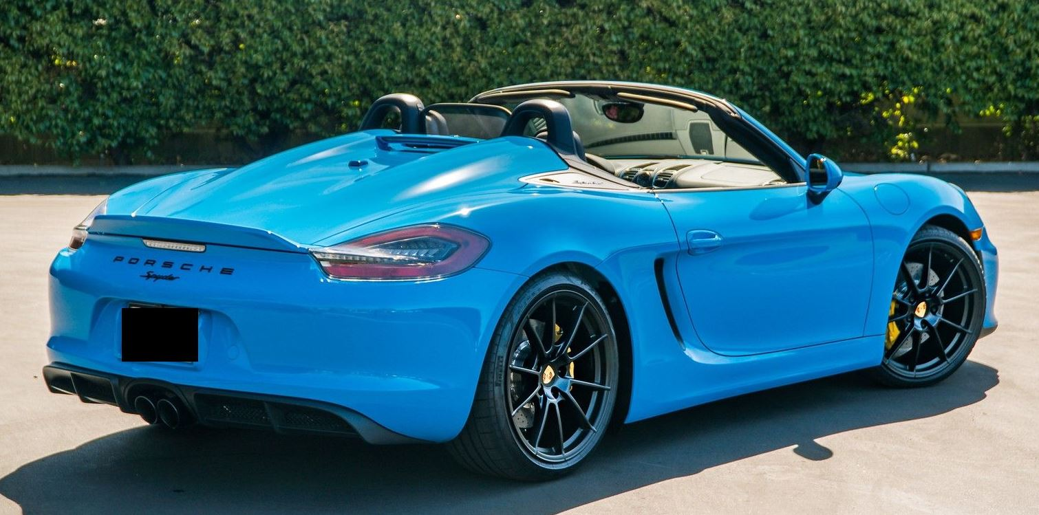 2016 porsche 981 boxster spyder sold exotic car search. Black Bedroom Furniture Sets. Home Design Ideas