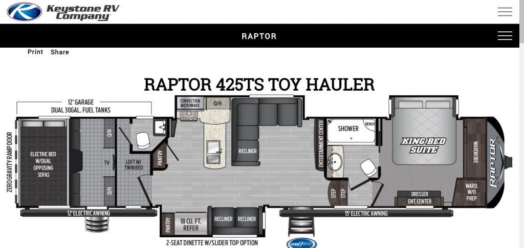 » Keystone Raptor 425TS Exotic Car Search